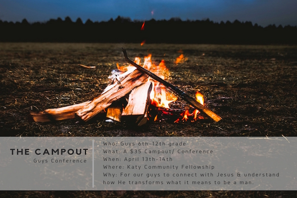 The Campout Guys Conference // April 13th -14th